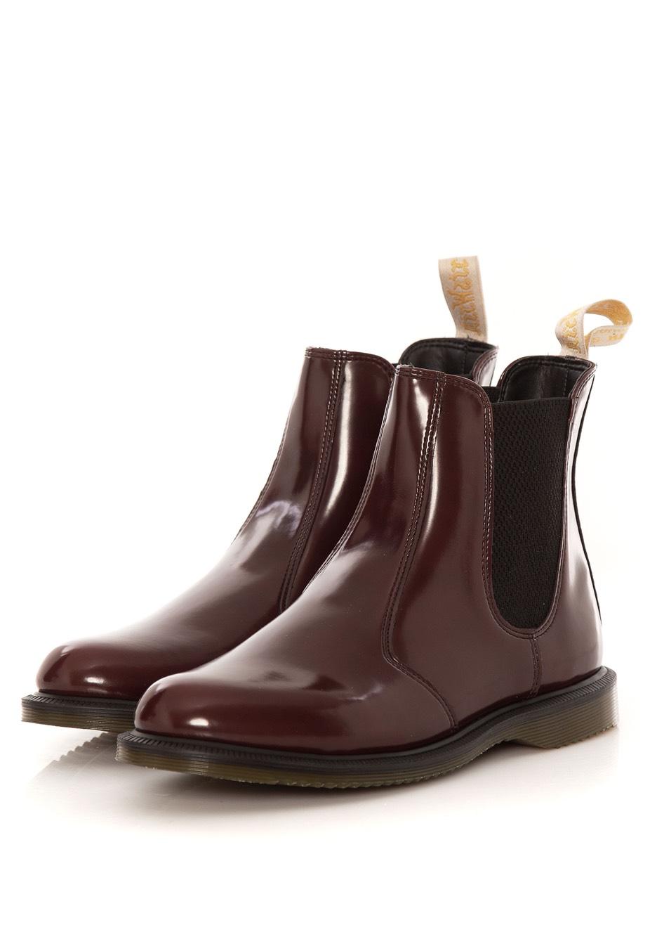 Dr. Martens - Flora Cambridge Brush Cherry Chelsea Boot - Girl Shoes -  Impericon.com AU 3d1a2d5ff28df
