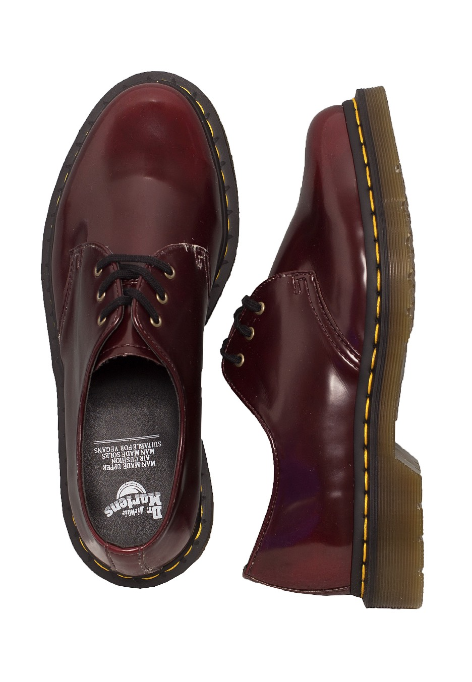 599c2352343 Dr. Martens - Vegan Cherry 3 Eye Boot - Girl Shoes - Impericon.com AU