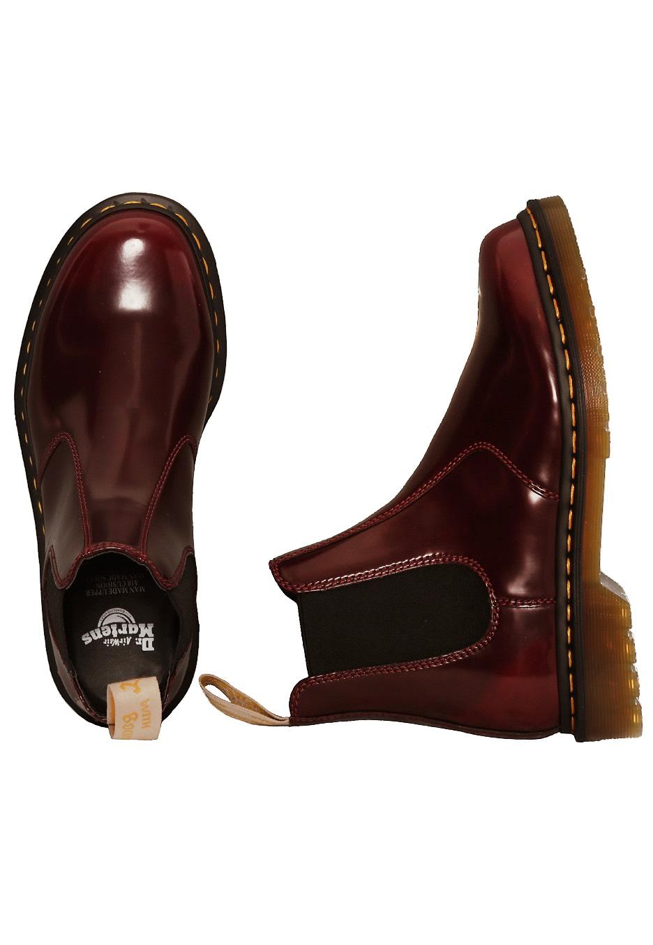 Neueste Mode amazon günstig kaufen Dr. Martens - Vegan 2976 Chelsea Boots Cherry Red Oxford Rub Off - Girl  Shoes