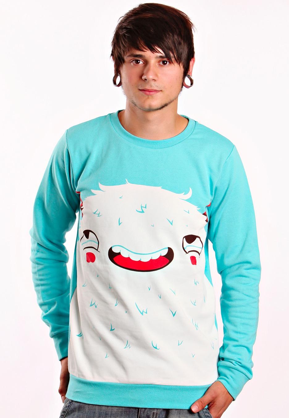 Drop Dead - Curious Crewneck Lightblue - Sweater - Impericon.com Worldwide