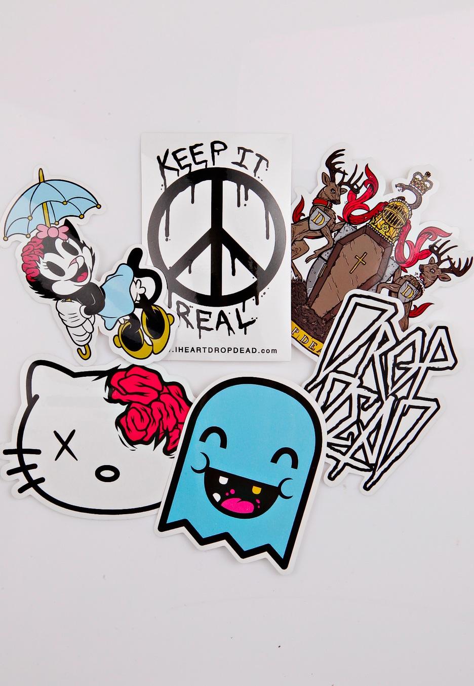 Drop Dead - Keep It Real - Sticker Pack - Impericon.com Worldwide
