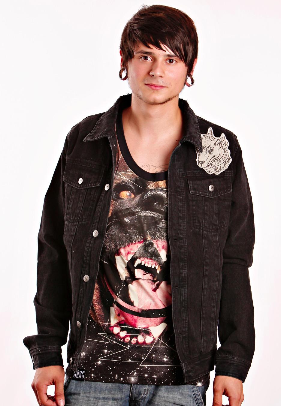 Drop Dead - Satan Is Waiting Dark Denim - Jeans Jacket - Streetwear Shop - Impericon.com Worldwide