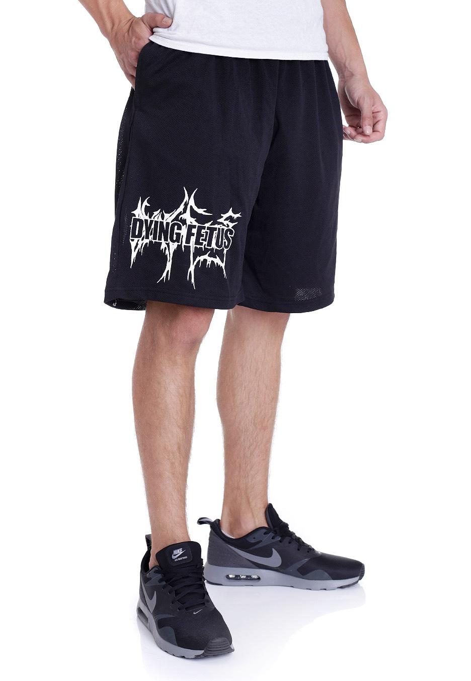 dying fetus dual logo shorts impericoncom worldwide