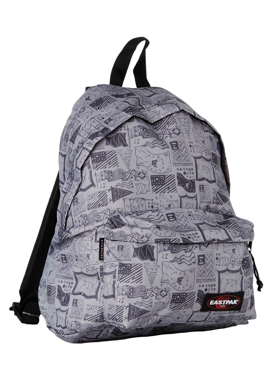 Eastpak Padded Pak R Backpack Black: Padded Pak´r Sketched Flags