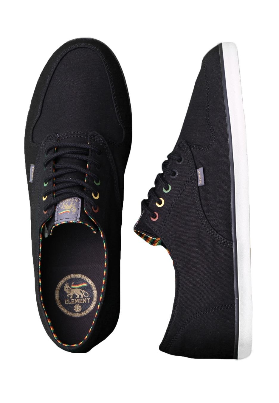 Element Topaz Shoes Black Rasta