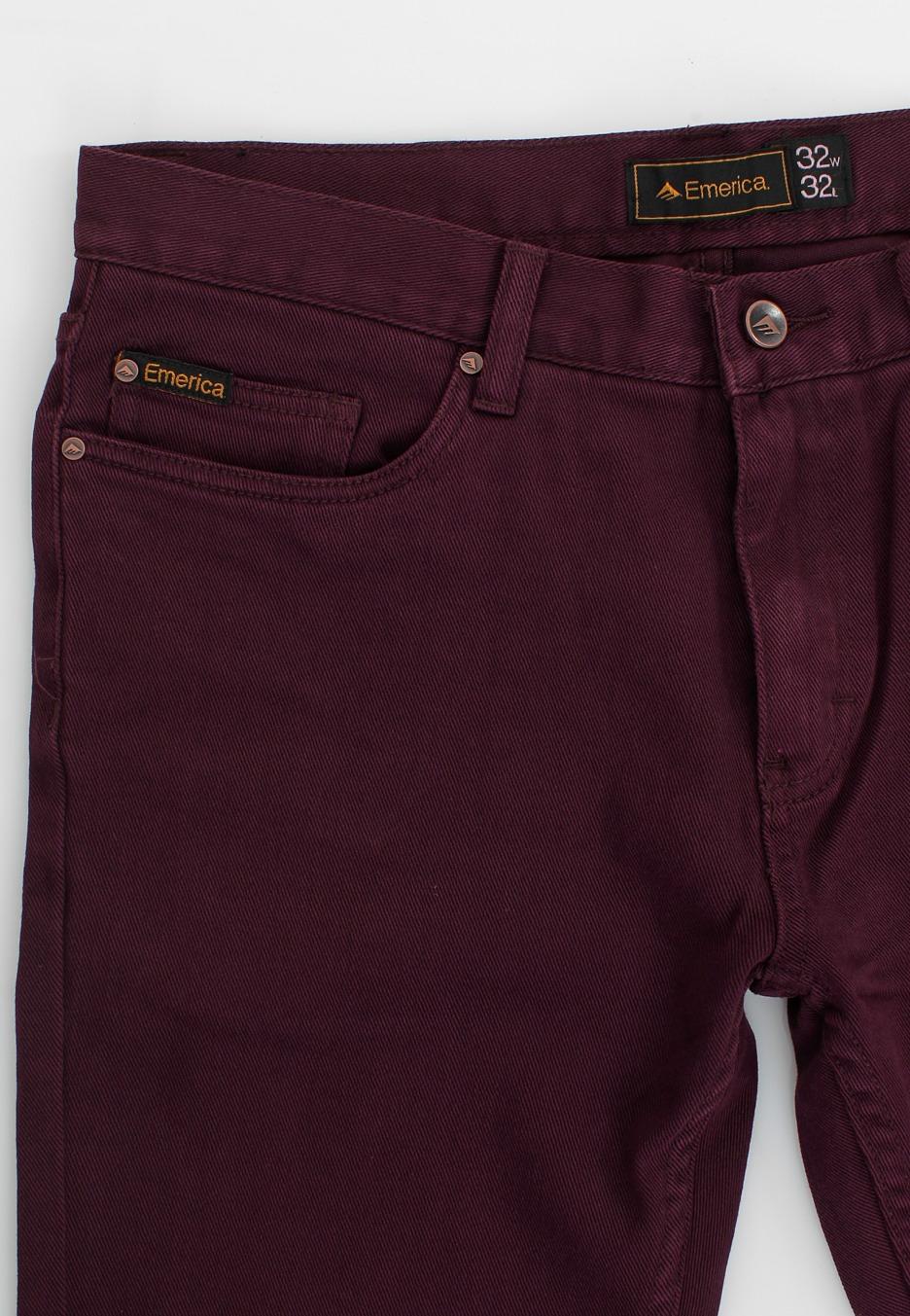 emerica selma denim burgundy jeans streetwear shop de. Black Bedroom Furniture Sets. Home Design Ideas