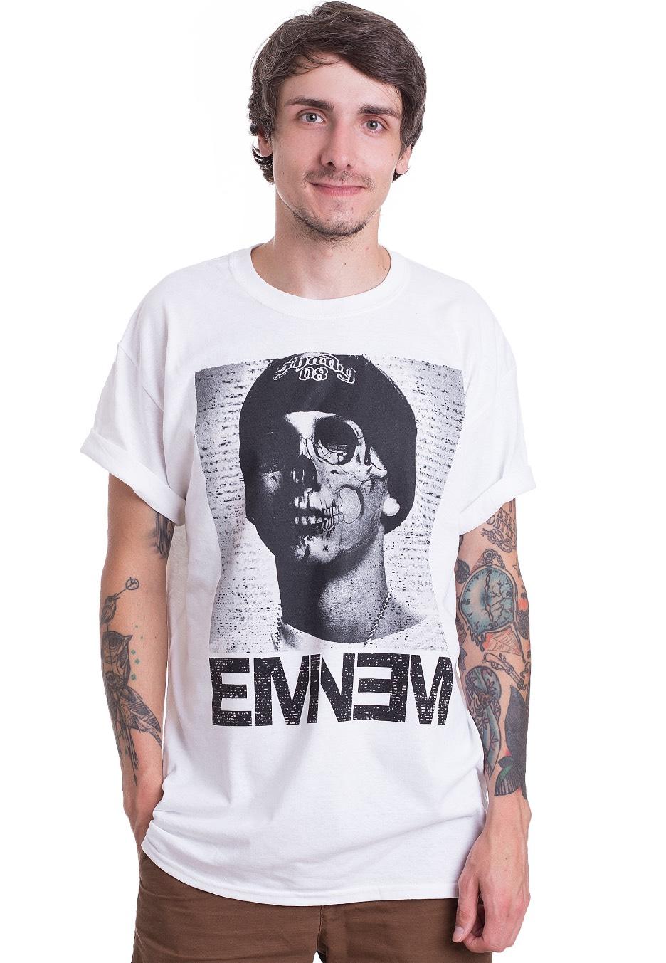 Eminem - Skull Face White - T-Shirt - Official Rap Merchandise Shop -  Impericon.com AU 513f633ab0b