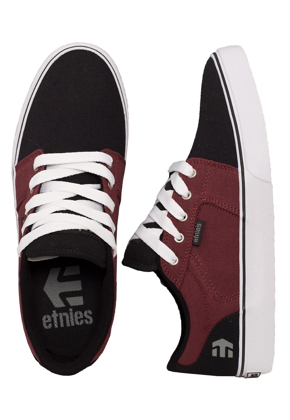 Etnies Barge LS BlackWhiteBurgundy Shoes