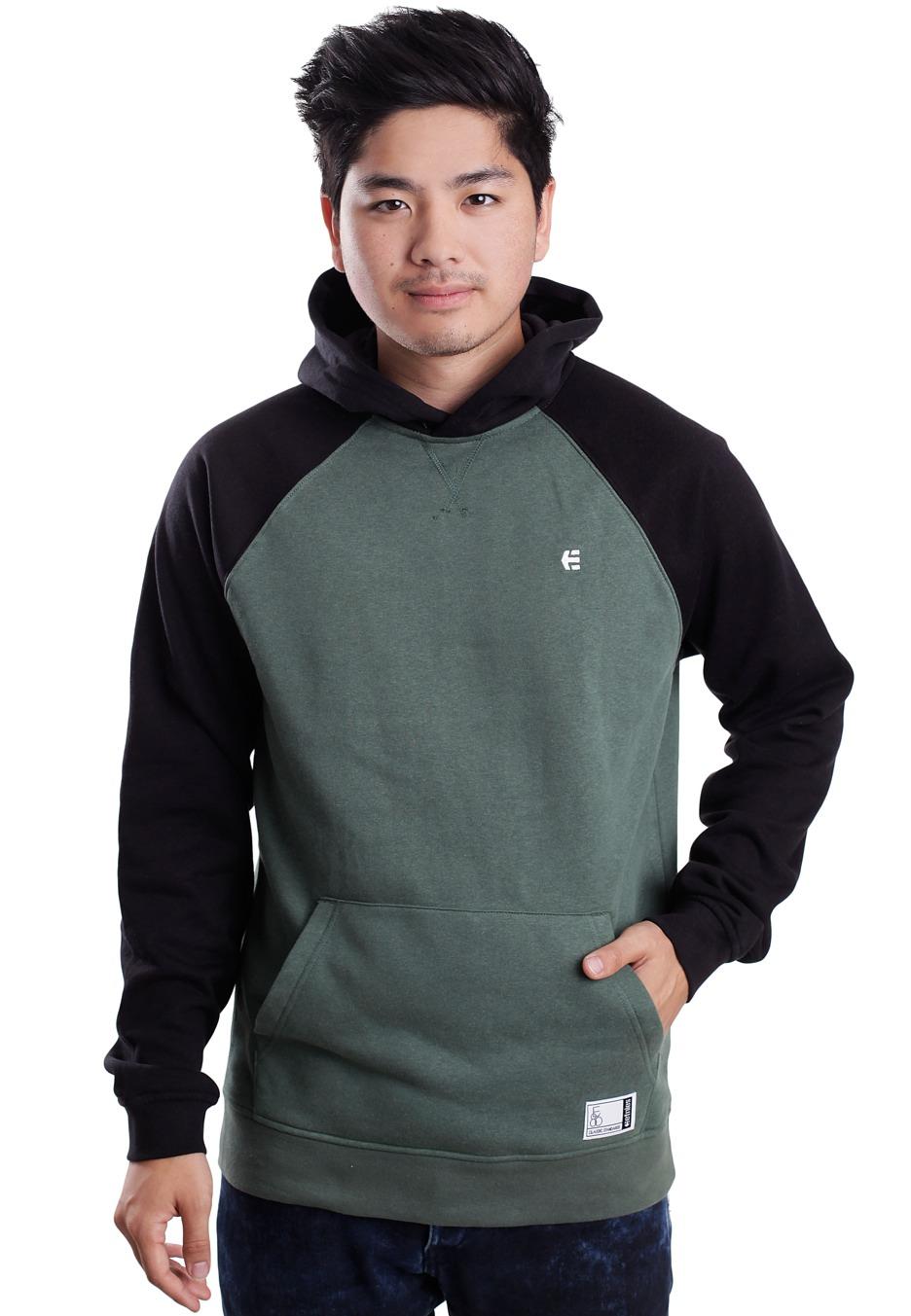 Black and green hoodie
