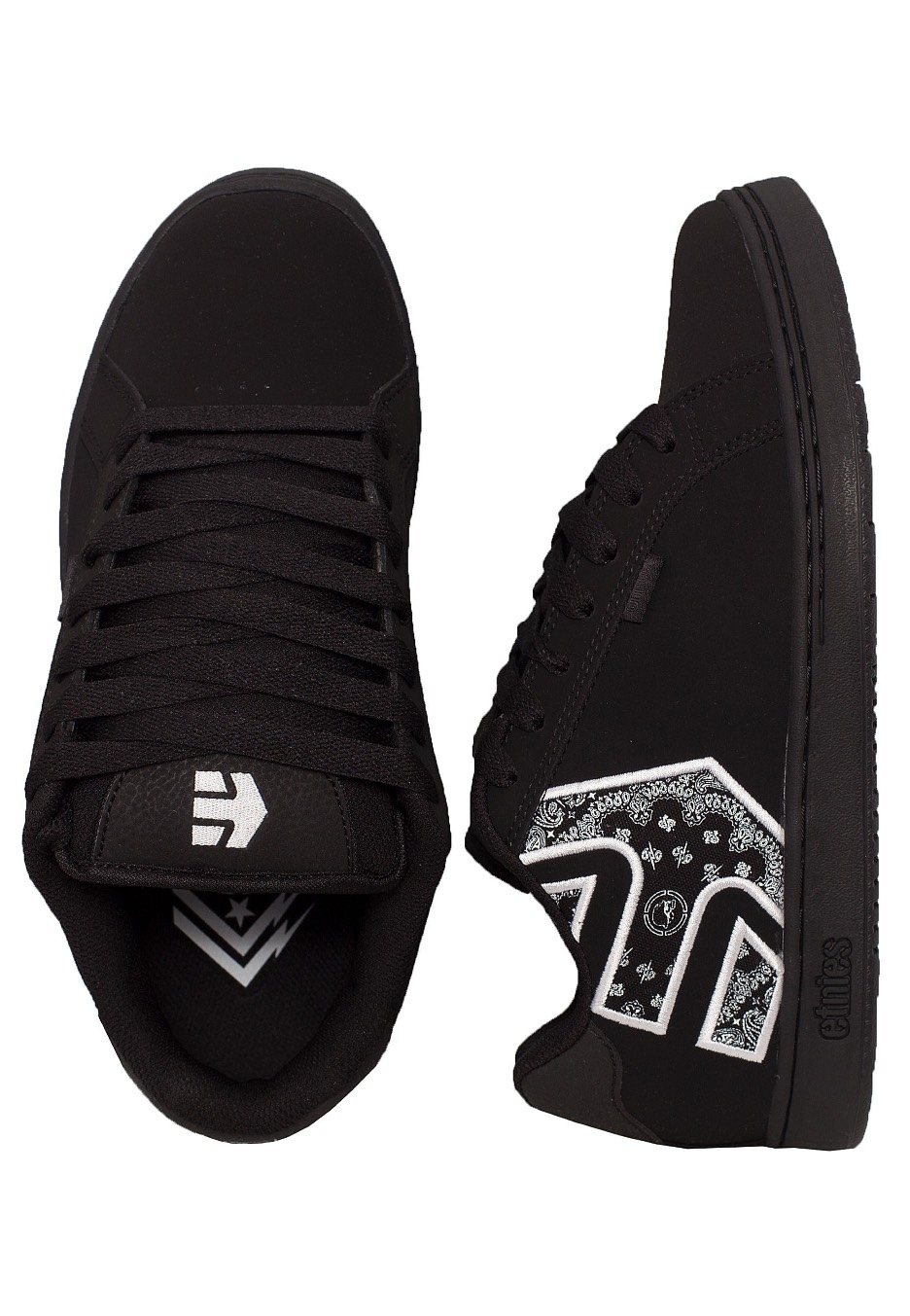 full range of specifications classic shoes promotion Etnies - Metal Mulisha Fader Black/White/Black - Shoes