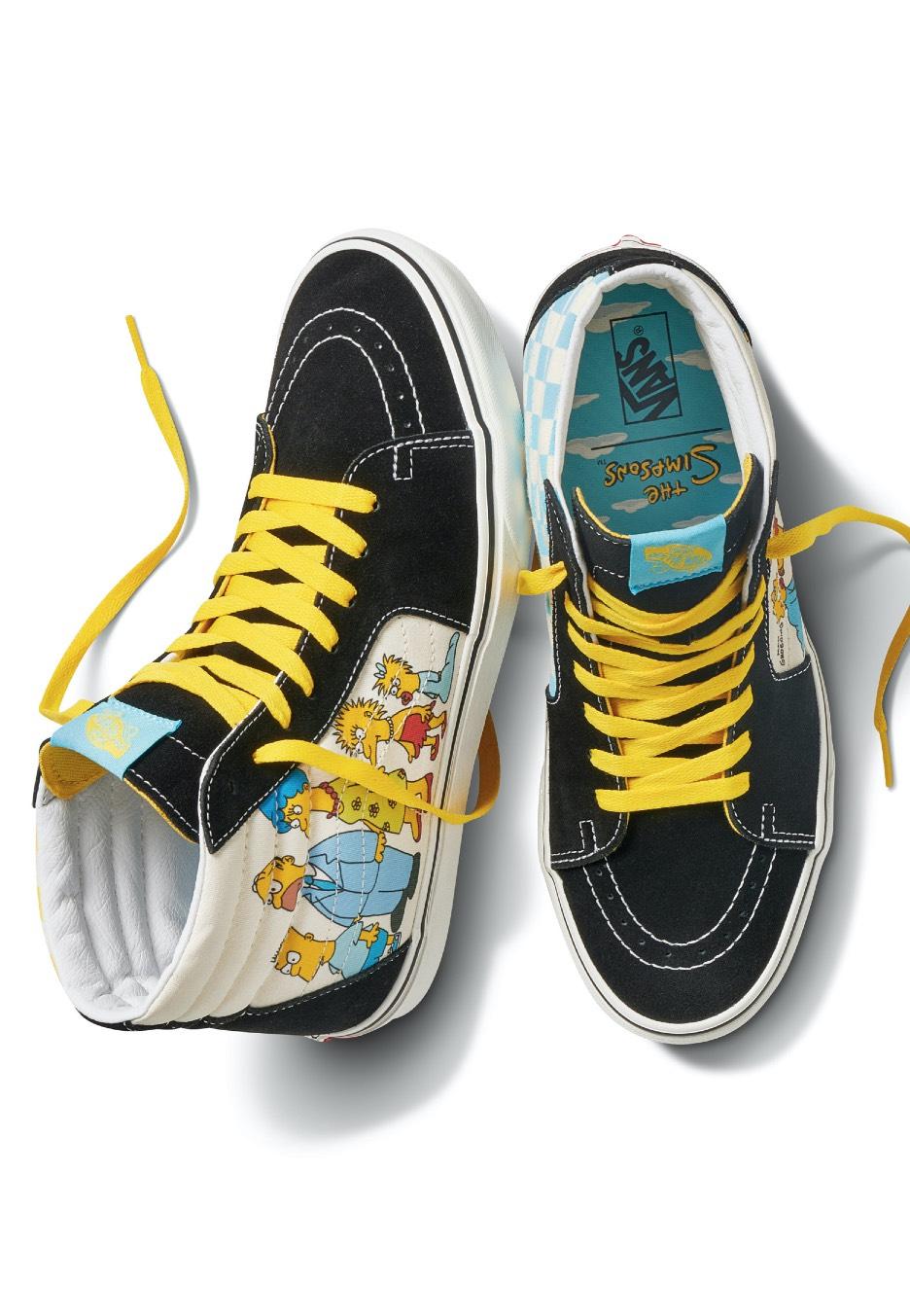 Vans x Simpsons - Sk8 Hi 1987/2020 White/Black - Shoes - Impericon ...