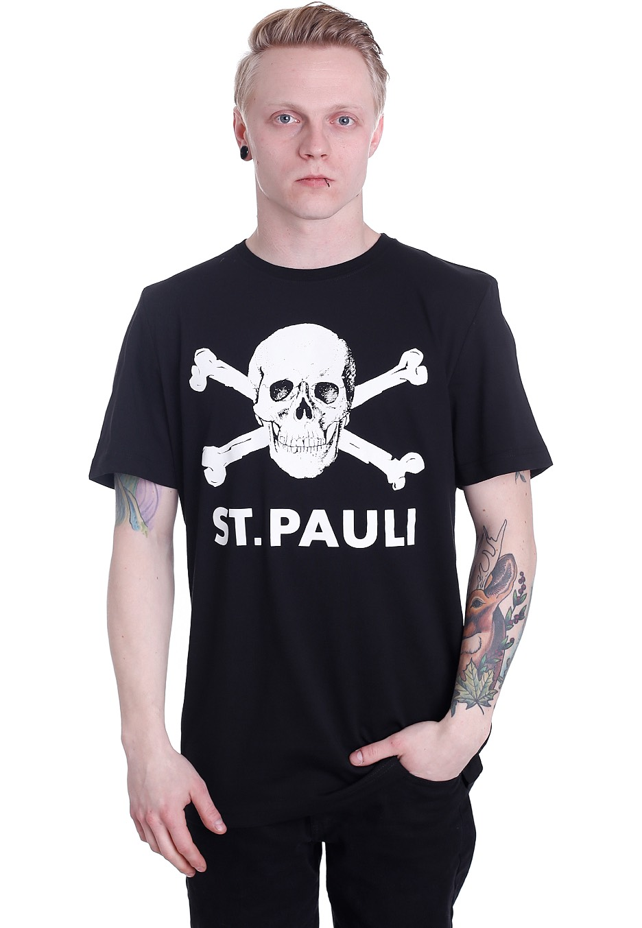 fc st pauli totenkopf i t shirt official. Black Bedroom Furniture Sets. Home Design Ideas