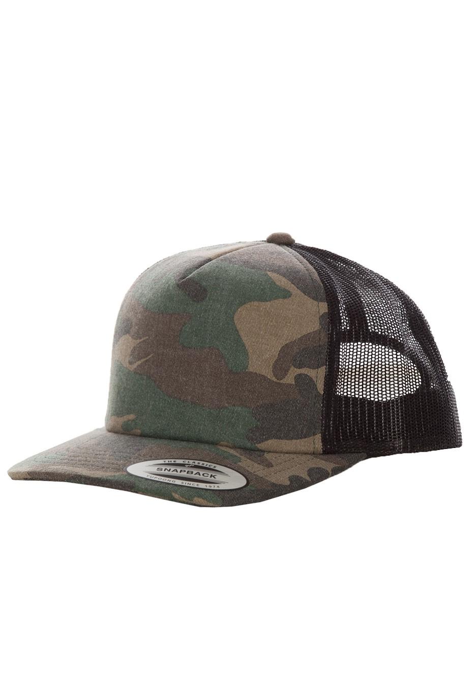 Flexfit - Camo Trucker Woodcamo/Black - Caps