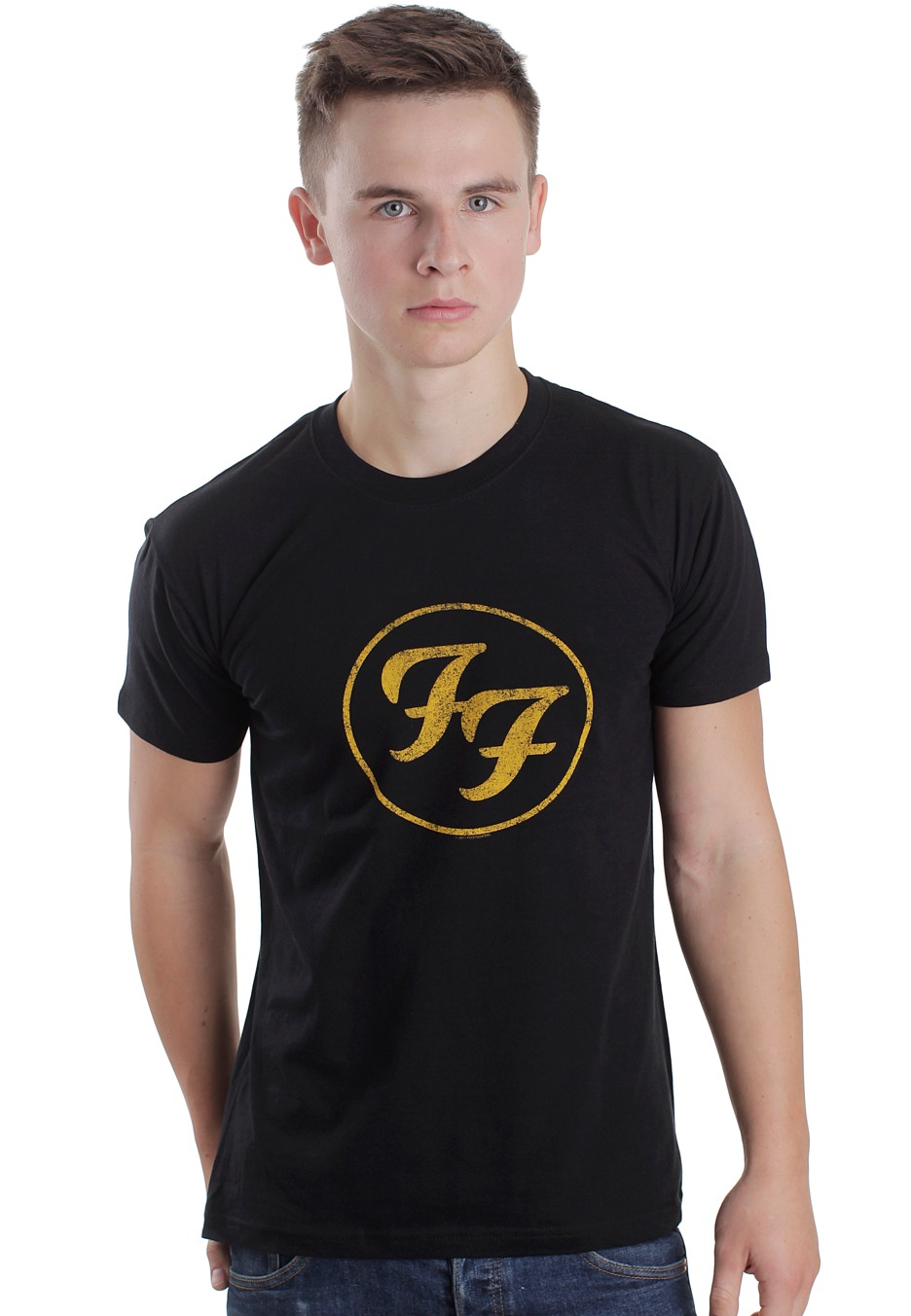 foo fighters gold logo tshirt official indie