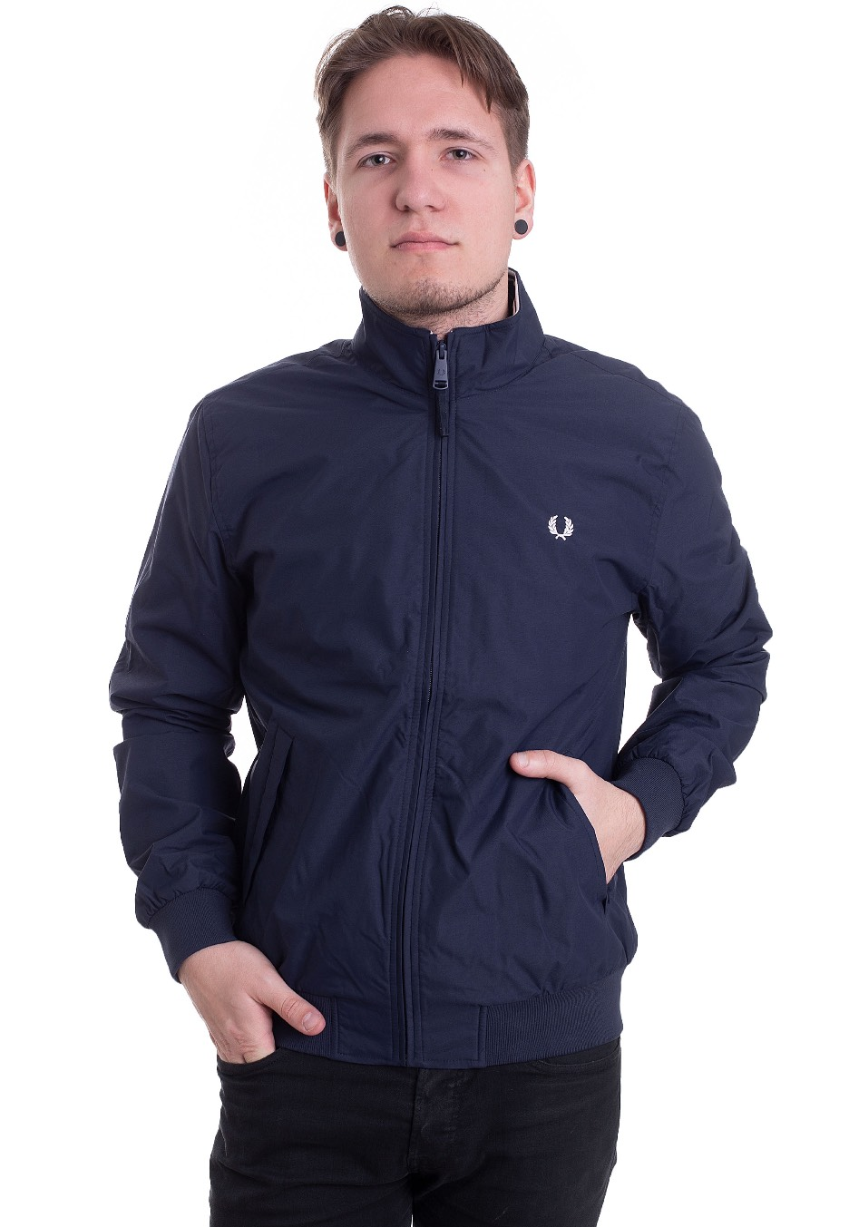 Fred Perry Brentham Carbon Blue Jacka