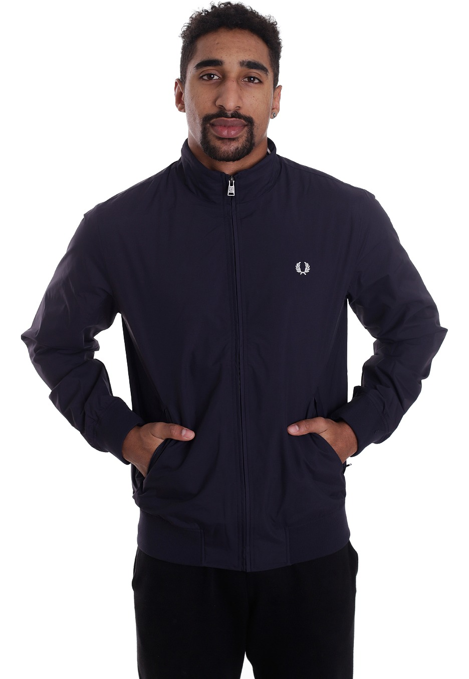 fred perry brentham navy jacket streetwear shop worldwide. Black Bedroom Furniture Sets. Home Design Ideas