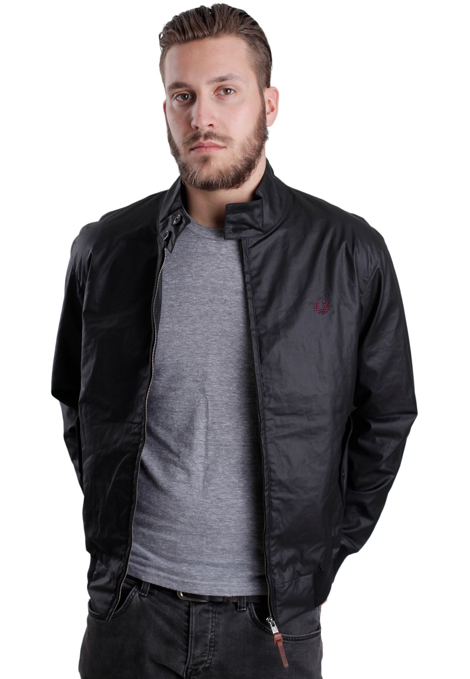 fred perry coated twill harrington jacket streetwear. Black Bedroom Furniture Sets. Home Design Ideas