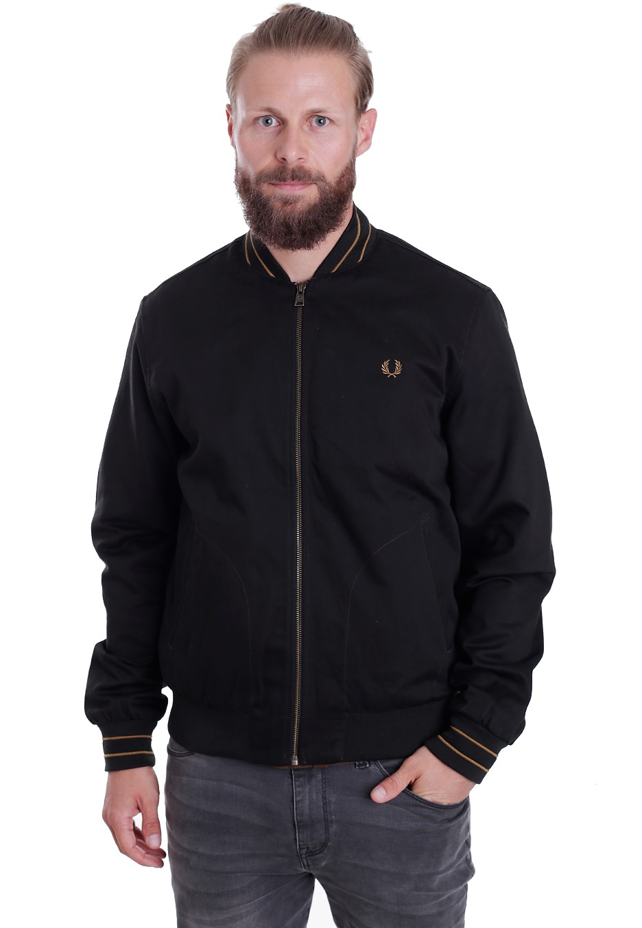 fred perry cotton bomber dark racing green jacket streetwear shop worldwide. Black Bedroom Furniture Sets. Home Design Ideas