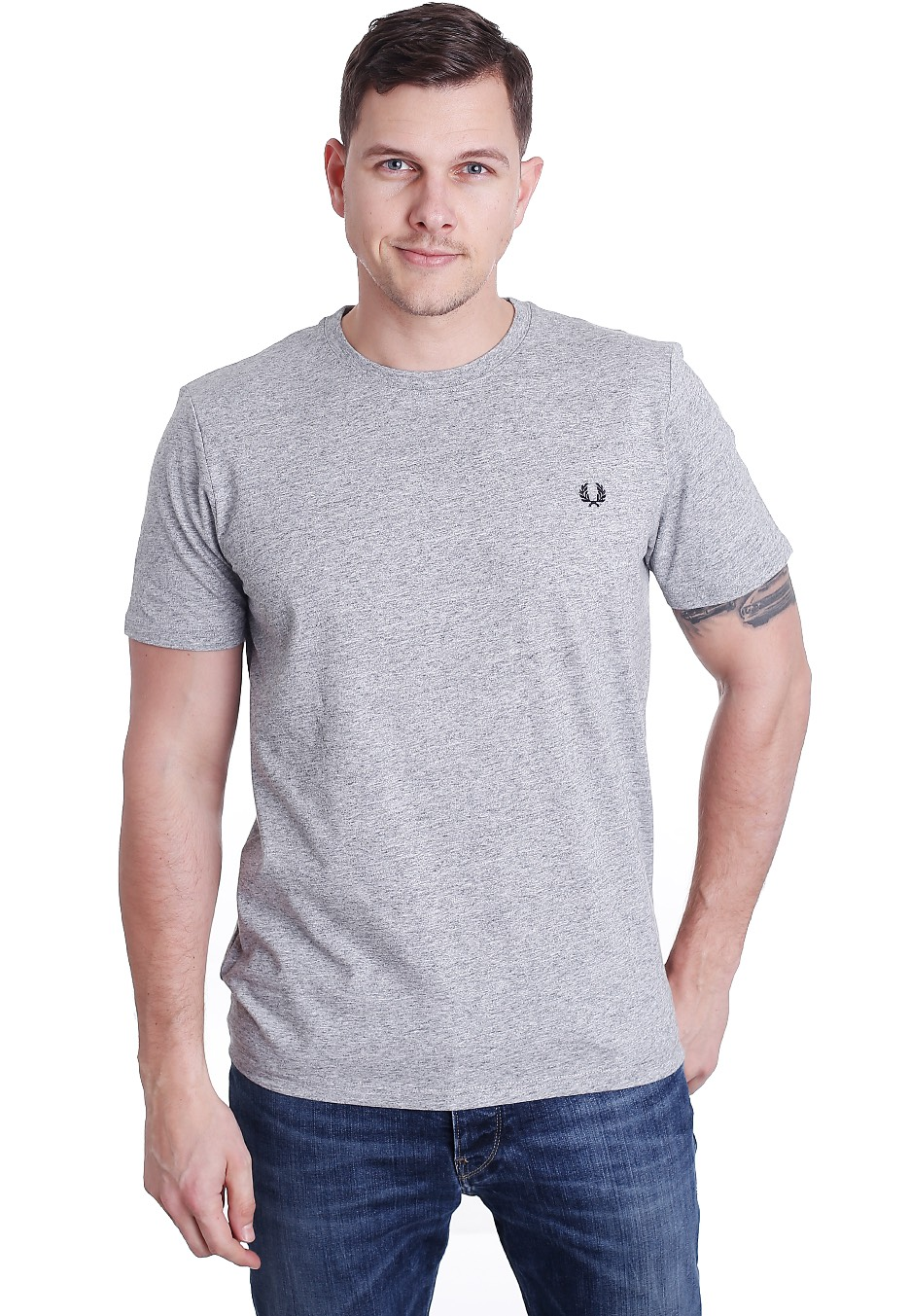 617442ad6 Fred Perry - Crew Neck Vintage Steel Marl - T-Shirt - Streetwear Shop -  Impericon.com Worldwide