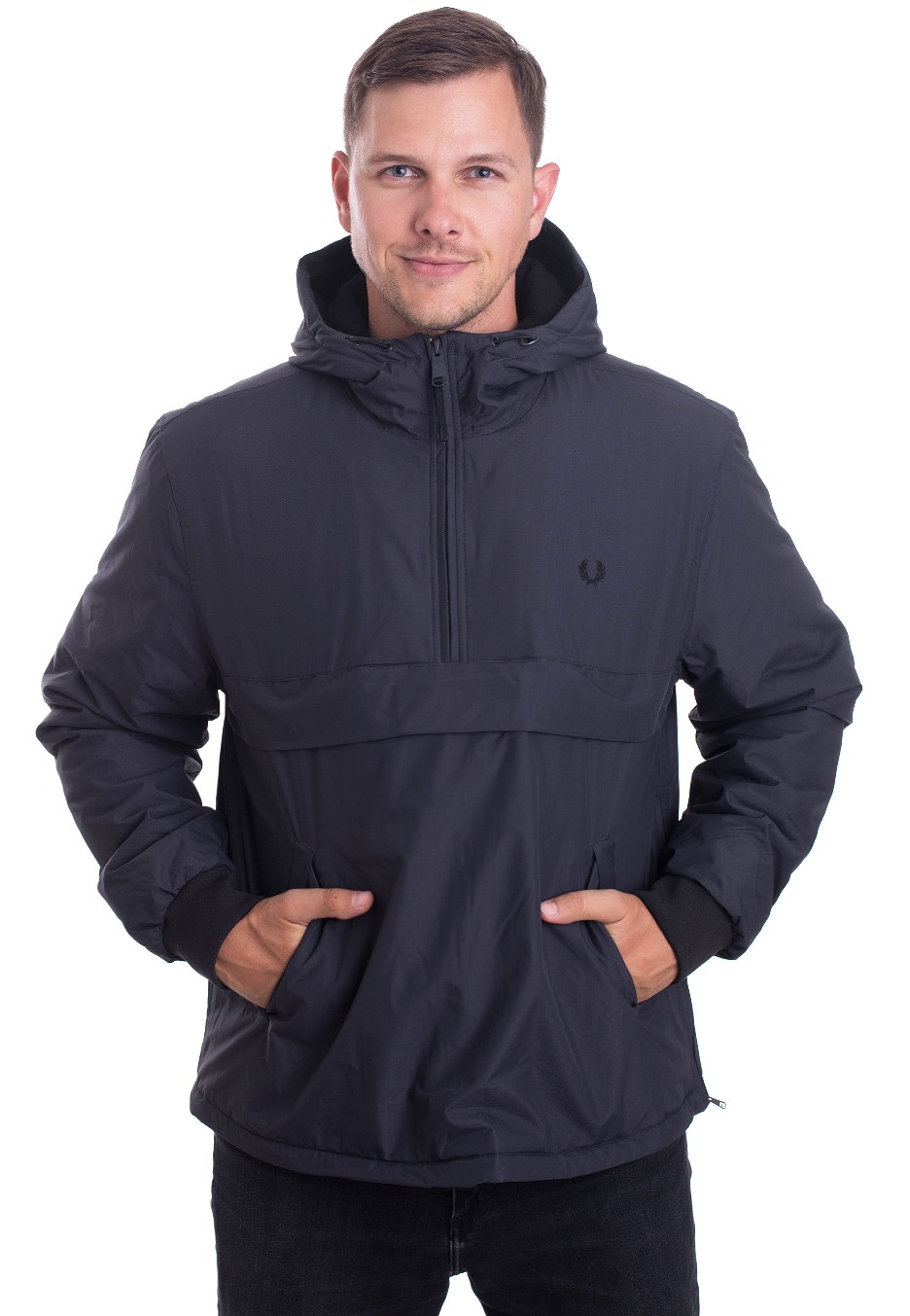 83c69037ff0 Fred Perry - Half Zip Hooded Brentham Graphite - Jacket - Streetwear Shop -  Impericon.com US