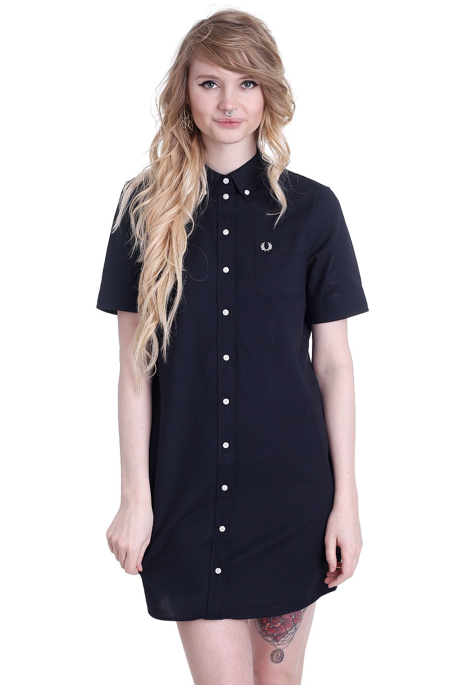 Fred Perry Oxford Shirt Navy Dress Streetwear Shop