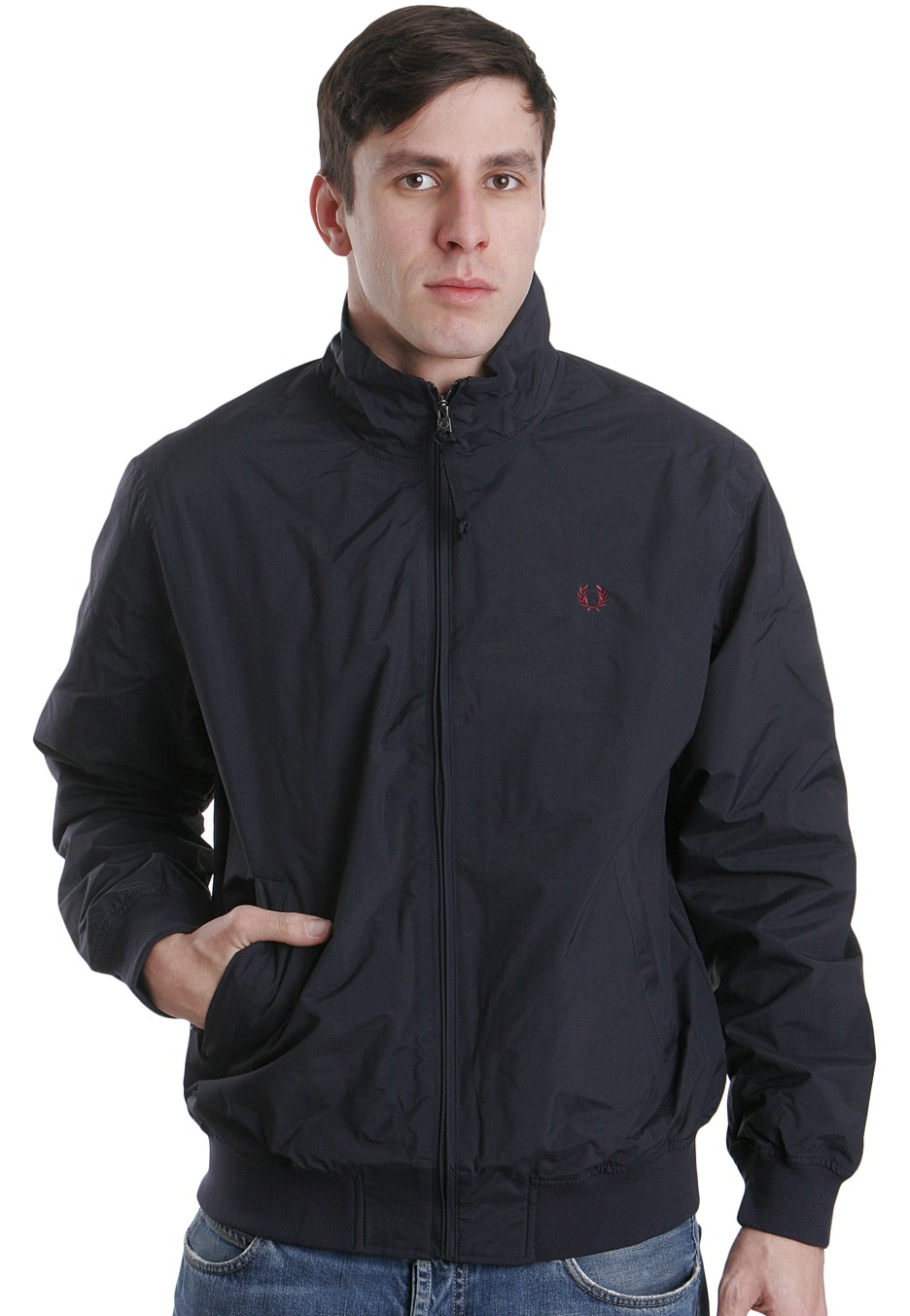 fred perry sailing navy jacket streetwear shop. Black Bedroom Furniture Sets. Home Design Ideas