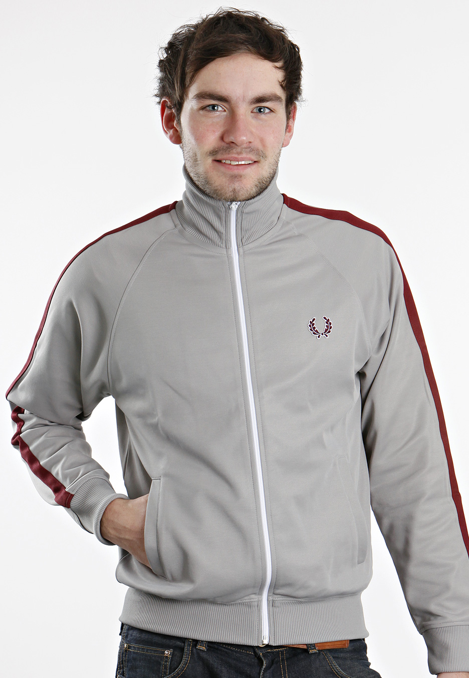fred perry single tape chrome track jacket. Black Bedroom Furniture Sets. Home Design Ideas