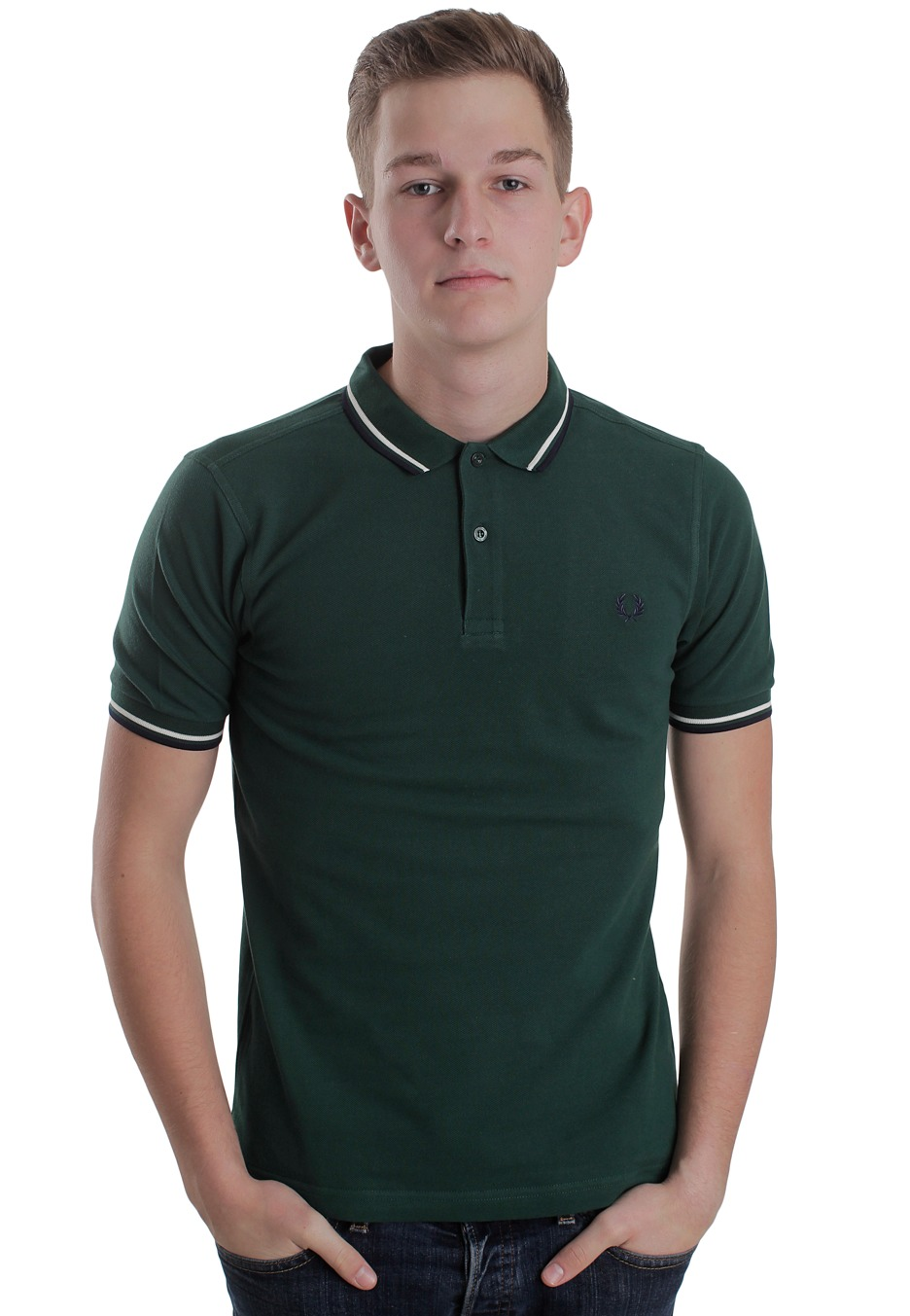 afe4e2212 Fred Perry - Slim Fit Twin Tipped Ivy Ecru Blue Granite - Polo - Streetwear  Shop - Impericon.com Worldwide