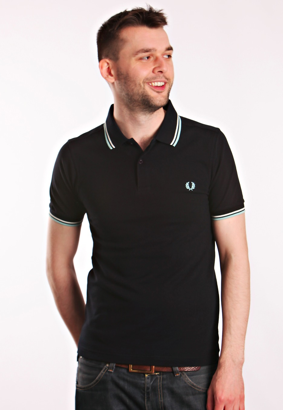 Fred Perry - Slim Fit Twin Tipped Navy/Pale