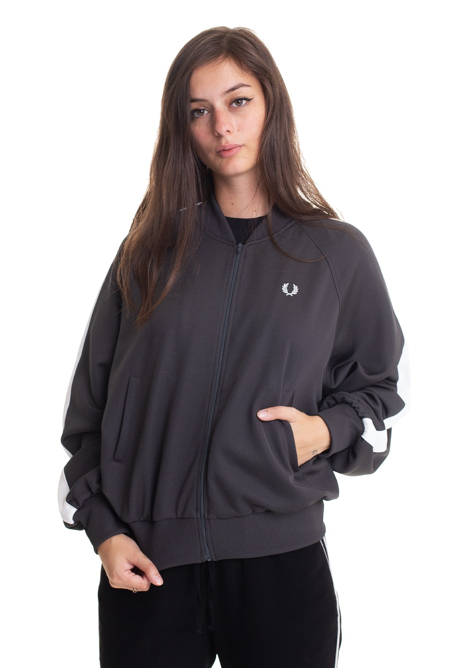 Jacken - Fred Perry Striped Bomber Slate Jacken  - Onlineshop IMPERICON