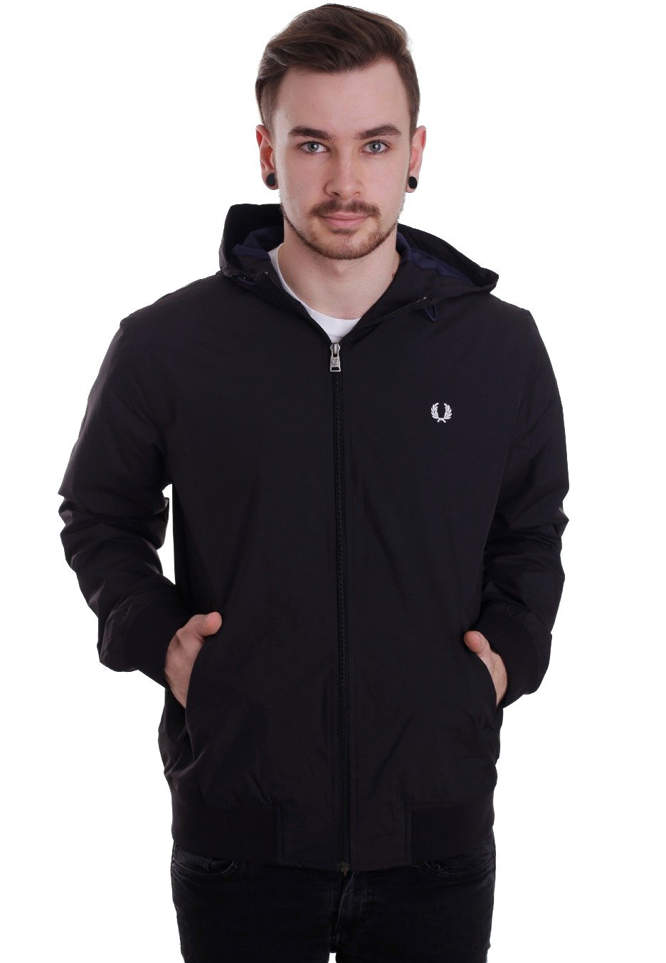 fred perry summer hooded brentham jacket streetwear shop worldwide. Black Bedroom Furniture Sets. Home Design Ideas