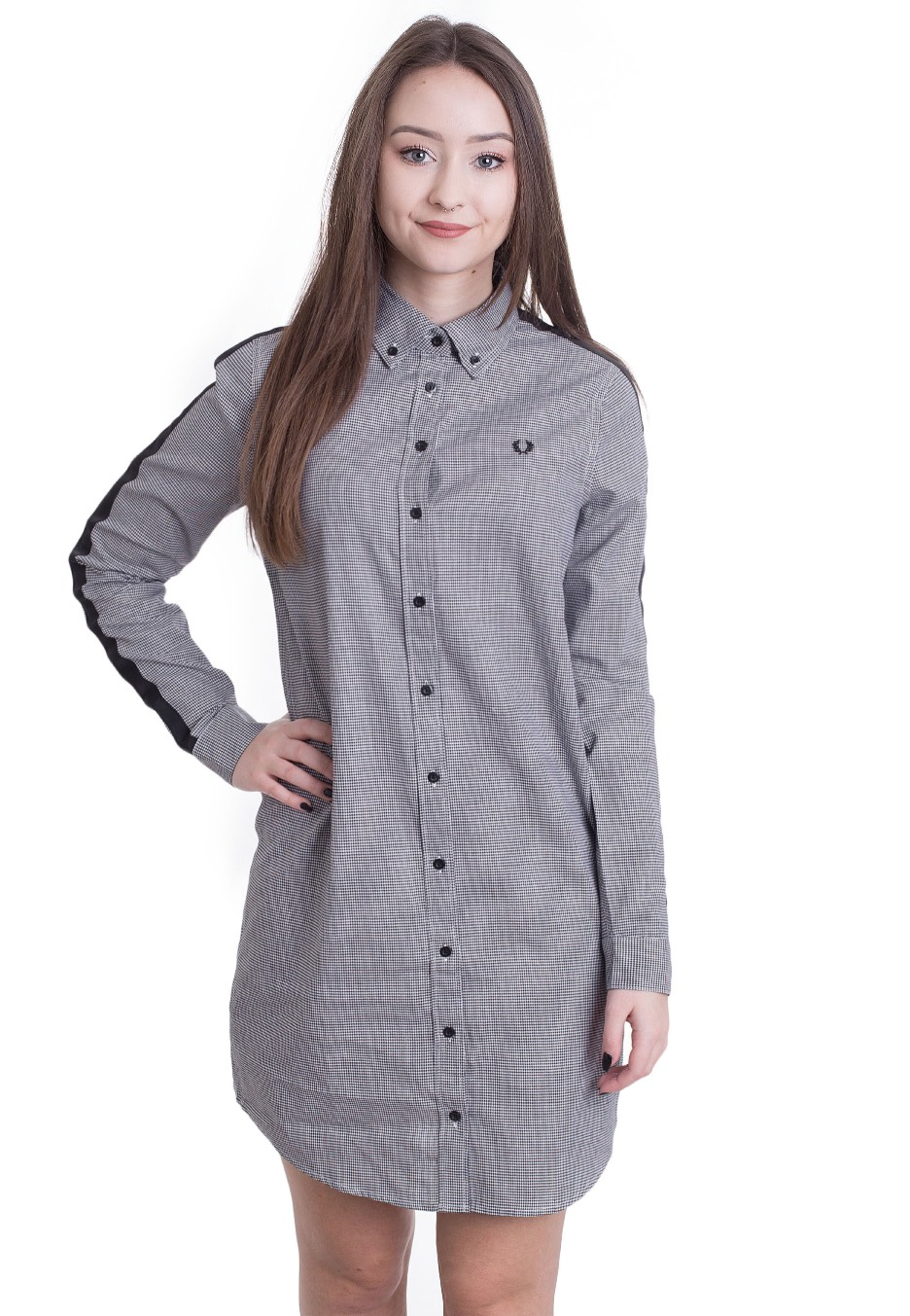 454ccc8edf Fred Perry - Taped Houndstooth Shirt - Dress - Streetwear Shop -  Impericon.com US