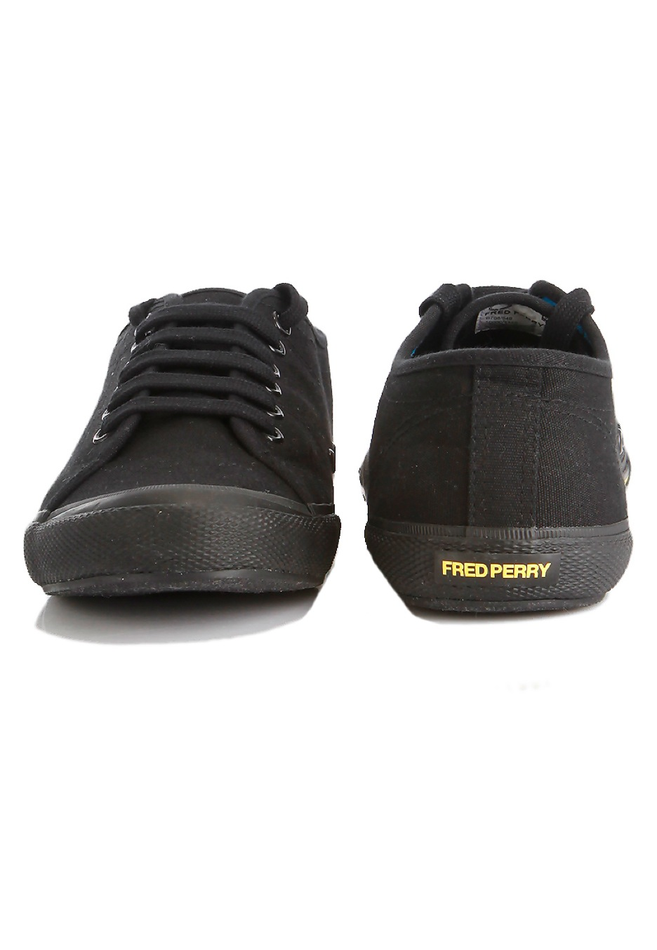 Black And Yellow Fred Perry Shoes