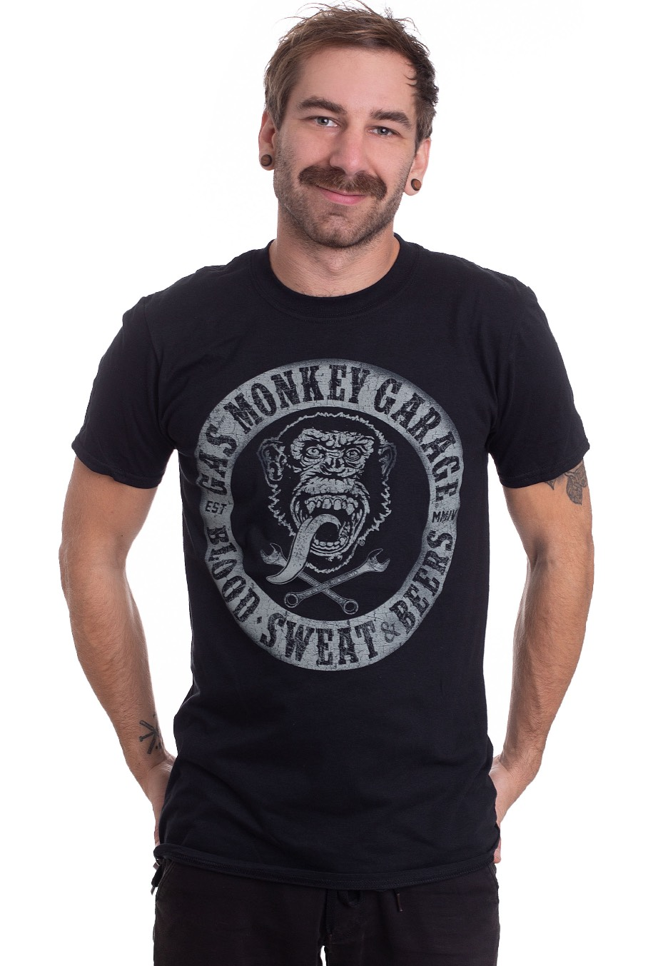 Gas Monkey Blood Sweat and Beers Tee Shirt