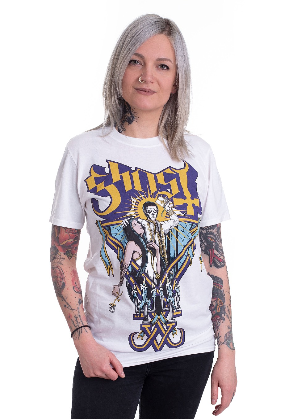 74f721743327 Ghost - Blessed White - T-Shirt - Official Hard And Heavy Merchandise Shop  - Impericon.com AU