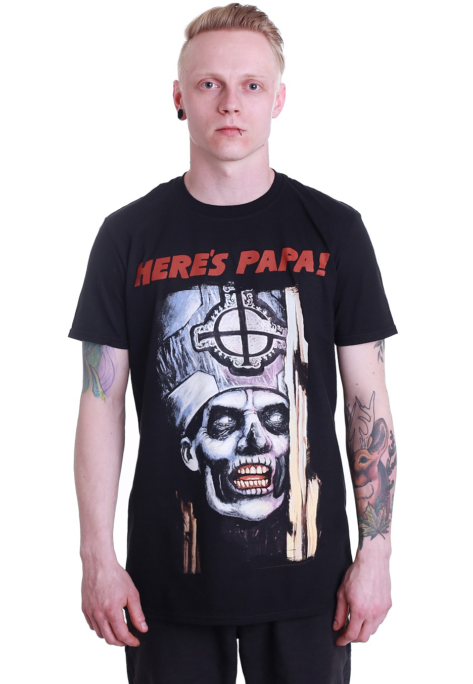 Ghost /'Here/'s Papa/' T-Shirt NEW /& OFFICIAL