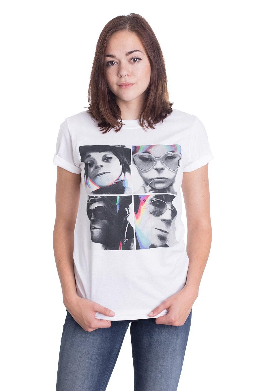 Humanz Gorillaz Glitch T Indie Boutique Shirt White Officielle ID9H2EYW