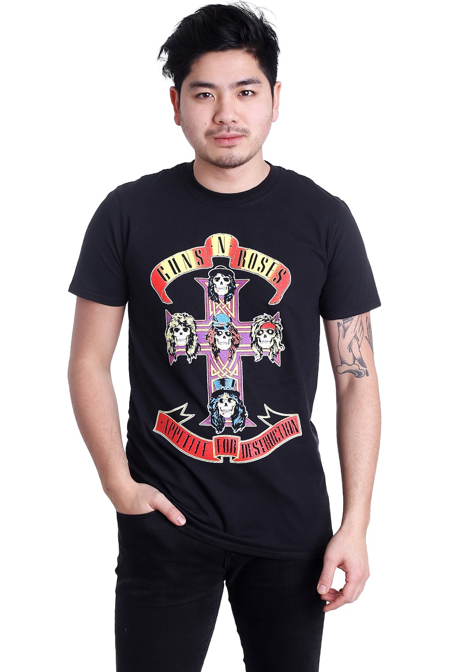 Guns n/'Roses Unisexe Tee Appetite For Destruction T-shirt Official Merchandise