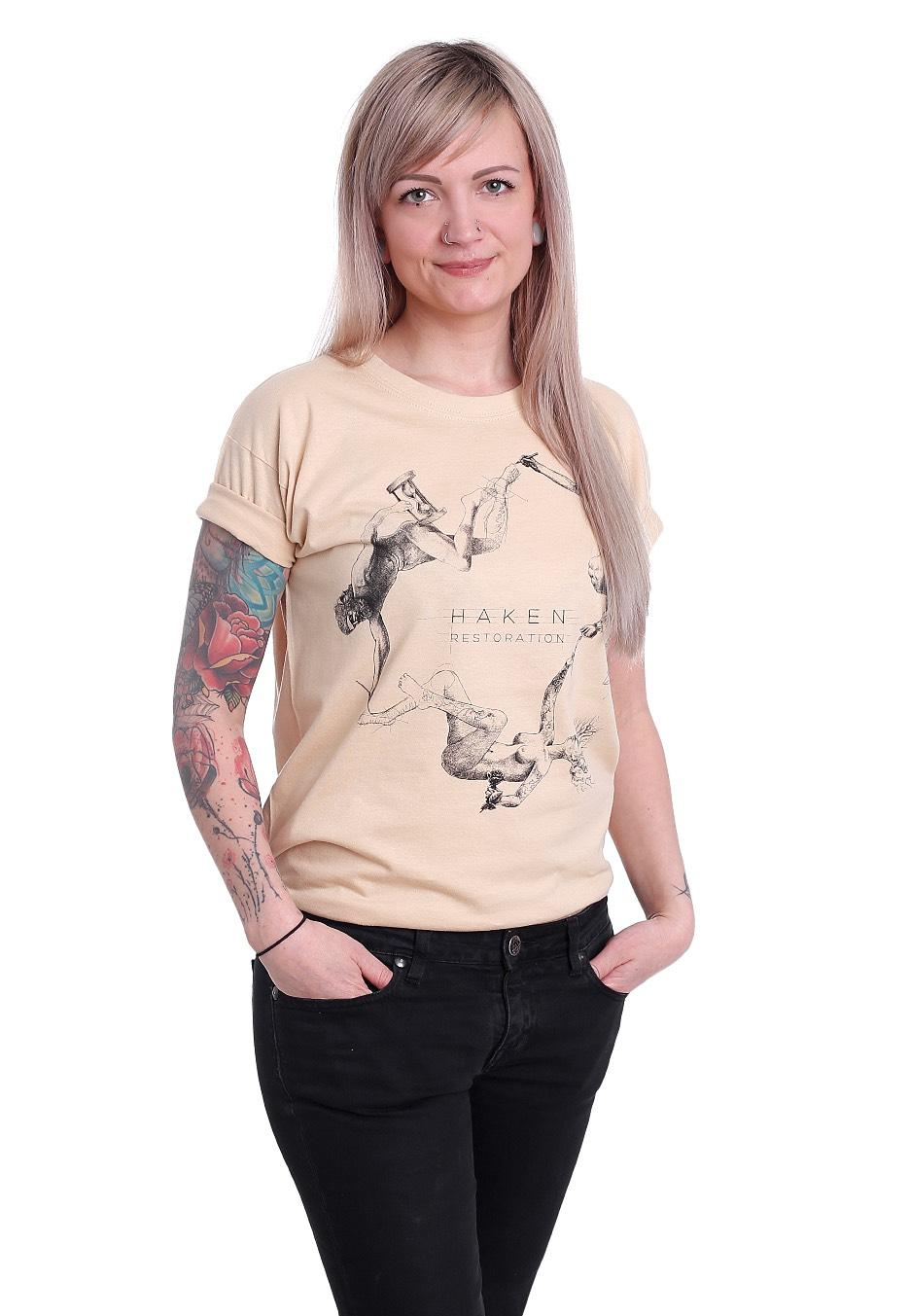 Haken Resto Sand T Shirt Official Alternative Rock Merchandise