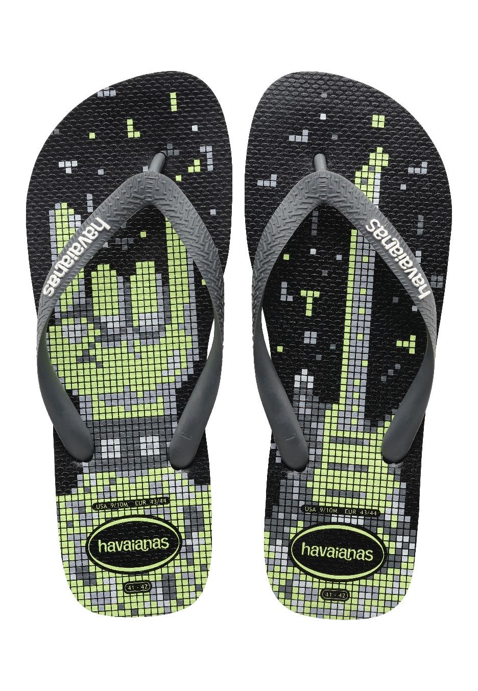 0bbe845d5083 Havaianas - 4 Nite Black Grey White - Sandals - Streetwear Shop -  Impericon.com UK