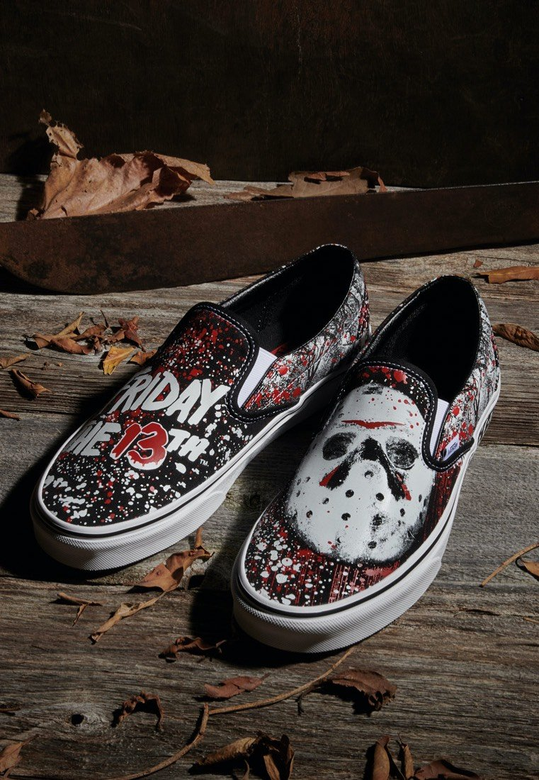 Vans x Horror Classic Slip On Friday The 13Th Shoes