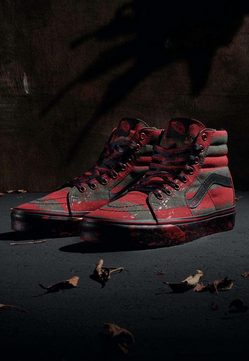 Vans x Horror Sk8 Hi Nightmare On Elm Street Shoes