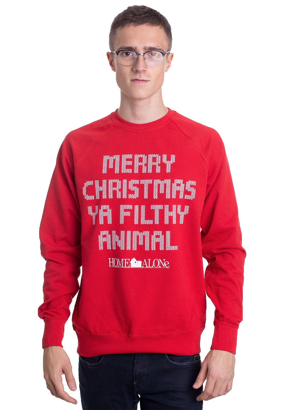 Home Alone Merry Christmas Ya Filthy Animal Red Sweater