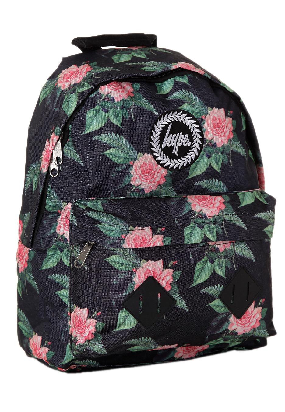 Hype Black Pink Feb Flowers Backpack - Flowers Healthy 92d27f6000899