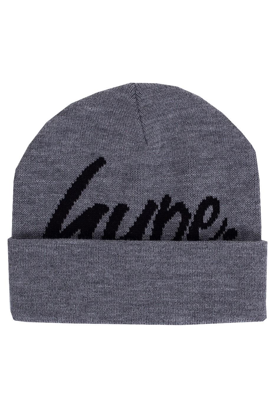 HYPE. - Half Script Grey Black - Beanie - Streetwear Shop - Impericon.com UK 5a84b7314be