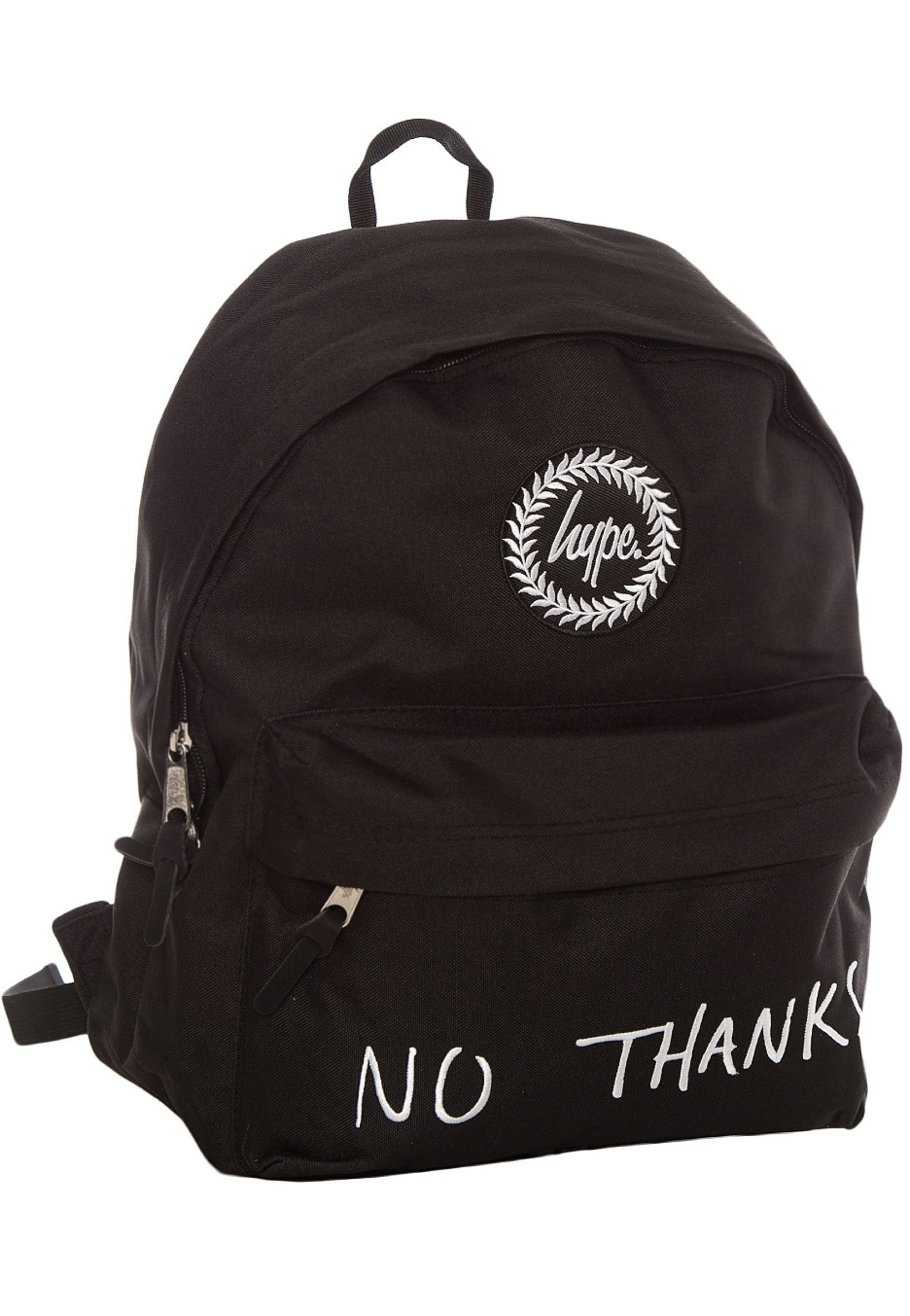 HYPE. - No Thanks Black White - Backpack - Streetwear Shop - Impericon.com  UK 6137fcc490