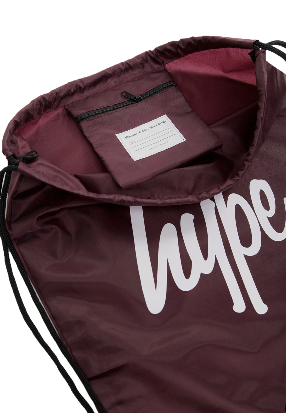 HYPE. - Script Drawstring Burgundy - Backpack - Streetwear Shop ... 95fb2bf4ccabc