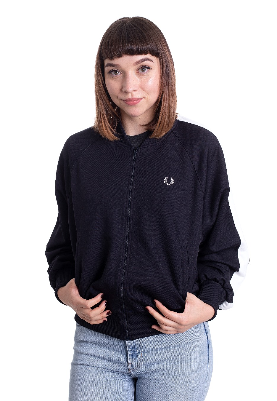 Jacken - Fred Perry Striped Bomber Navy Jacken  - Onlineshop IMPERICON