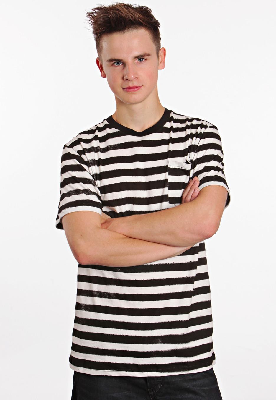 Black t shirt with white stripes - Iron Fist Pugsly Black Stripes White T Shirt Impericon Com Worldwide