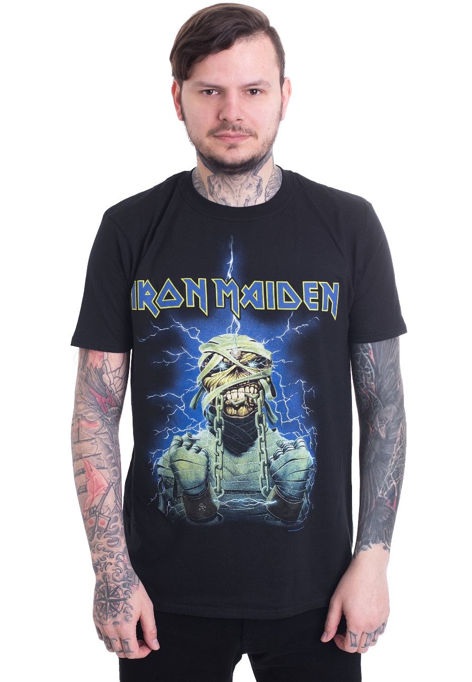 def8ad38d Iron Maiden - Powerslave Mummy - T-Shirt - Official Heavy Metal Merchandise  Shop - Impericon.com US